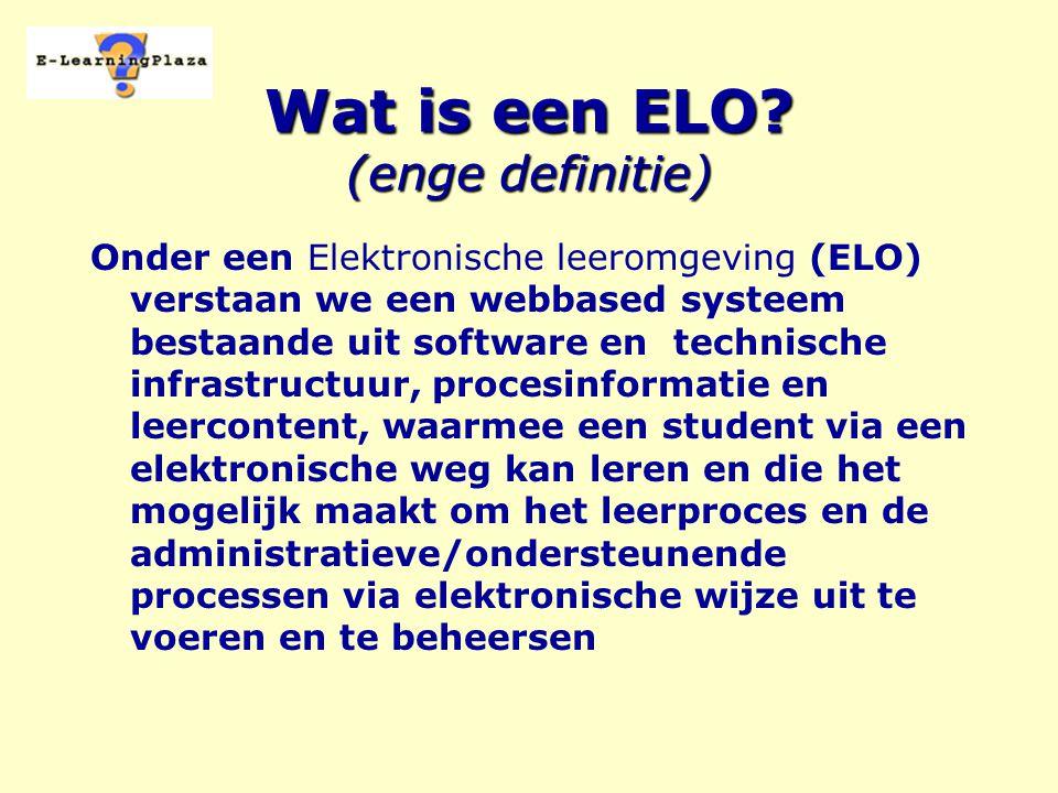 Wat is een ELO.