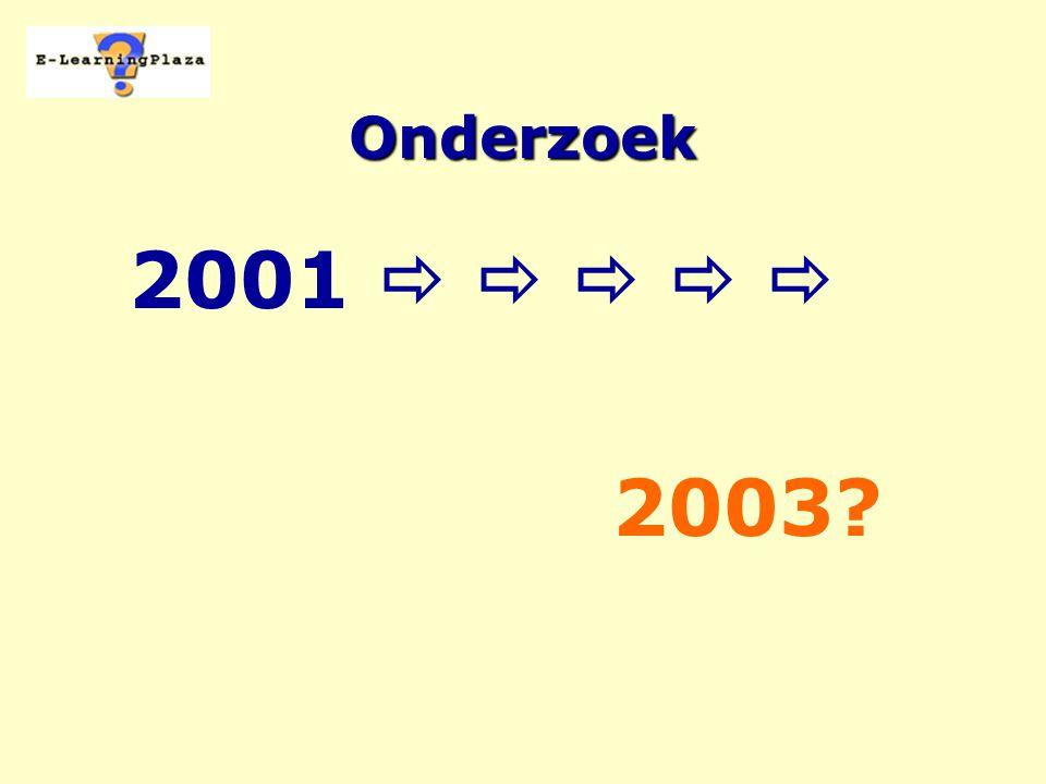 Onderzoek 2001      2003?