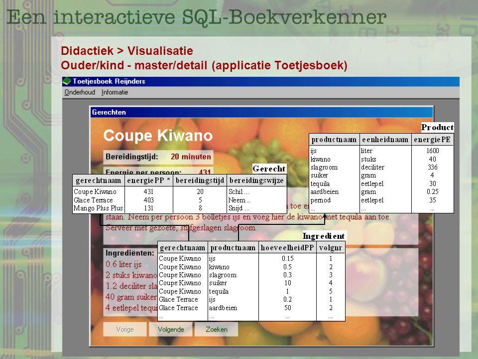 Didactiek > Visualisatie Ouder/kind - master/detail (applicatie Toetjesboek)