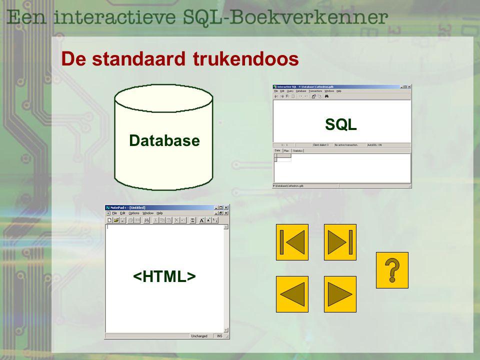 De standaard trukendoos Database SQL