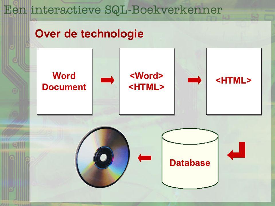 Over de technologie Word Document Database