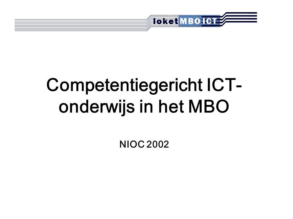 Competentiegericht ICT- onderwijs in het MBO NIOC 2002