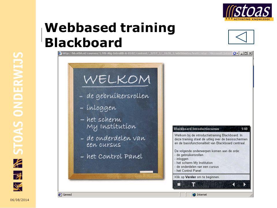 06/08/2014 Webbased training Blackboard
