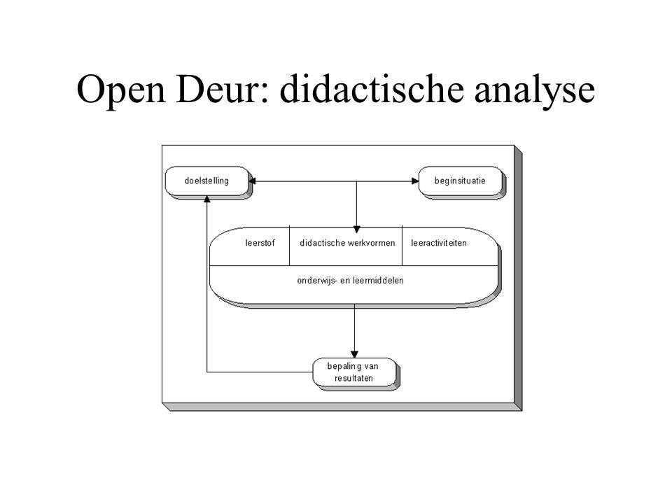 Open Deur: didactische analyse