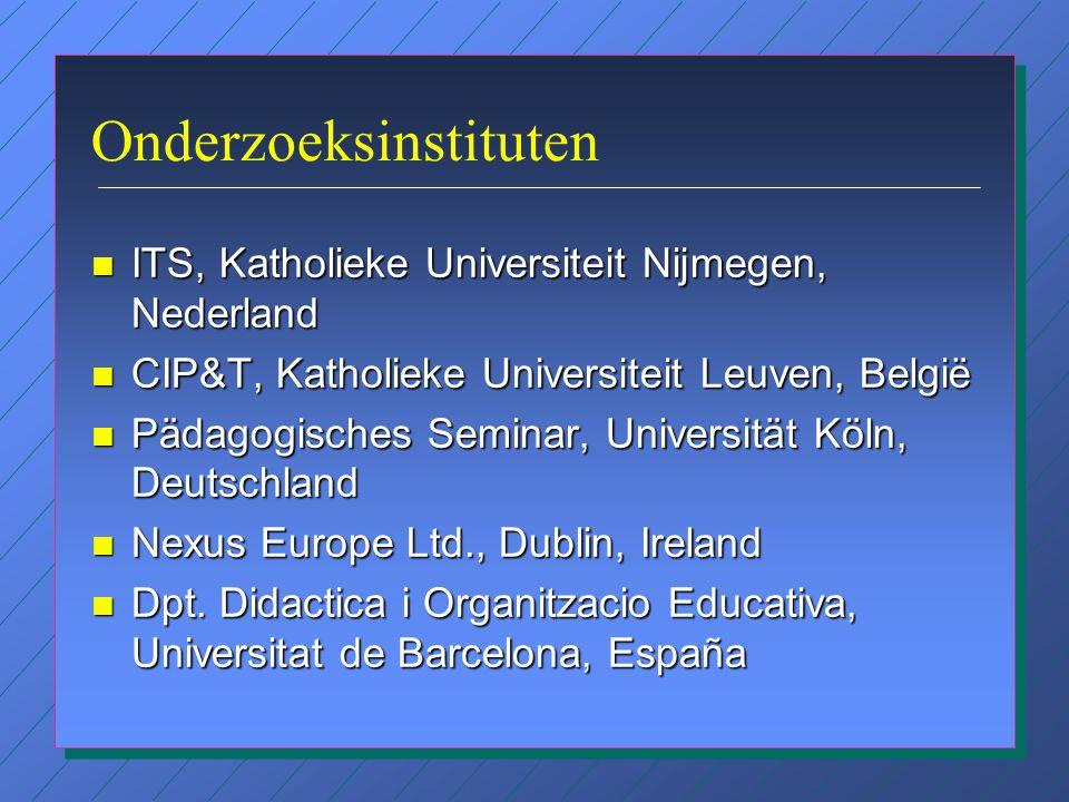 Doel van het onderzoek 'The Impact of ICT on the Teacher' Het bestuderen van de invloed van ICT op de rol van de leerkracht in het primair en voortgez