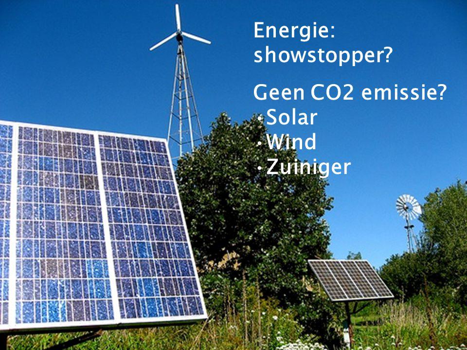 Kom verder. Saxion. Energie: showstopper? Geen CO2 emissie? Solar Wind Zuiniger