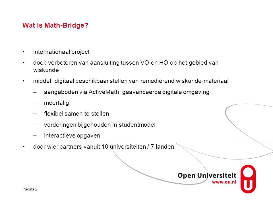 Pagina 2 Wat is Math-Bridge.
