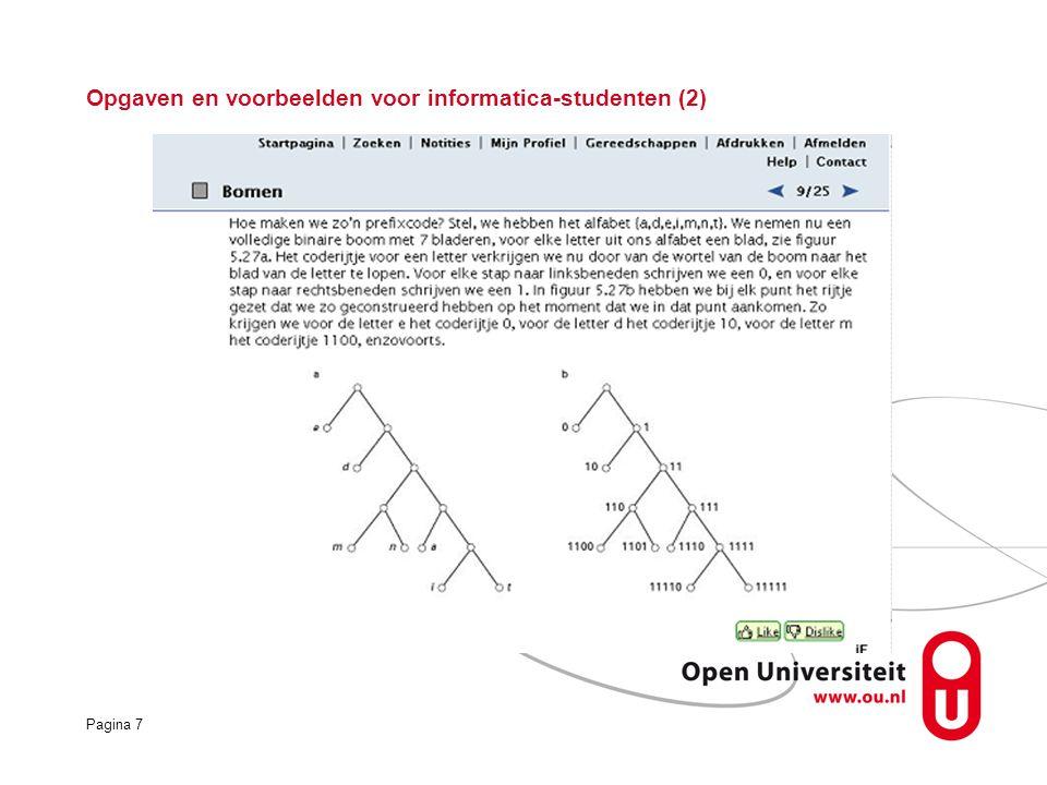 Pagina 7 Opgaven en voorbeelden voor informatica-studenten (2)