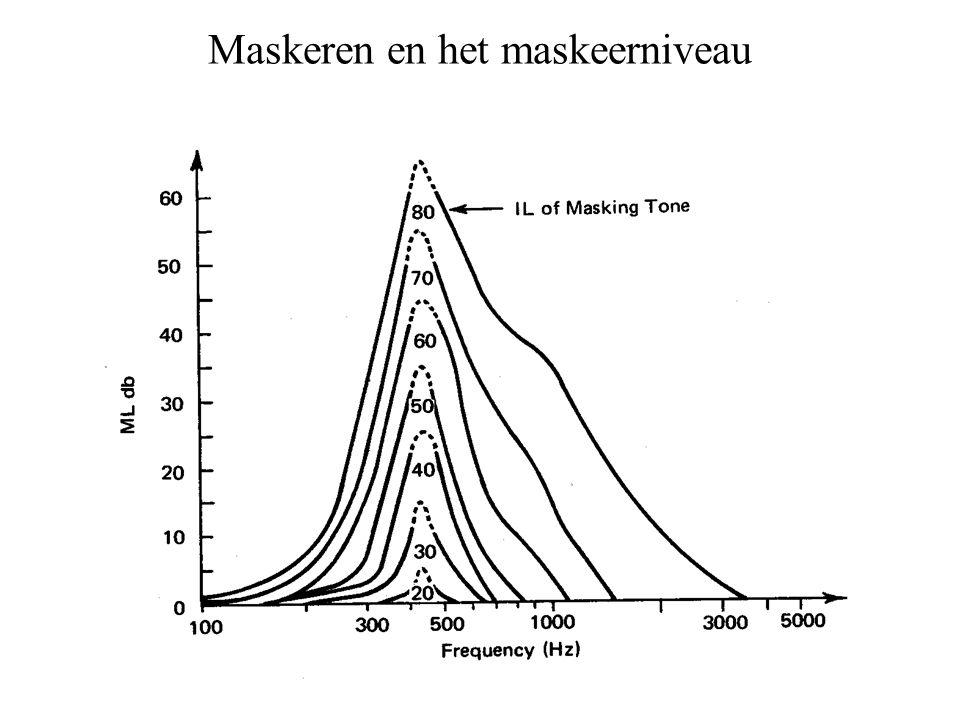 Maskeren en het maskeerniveau