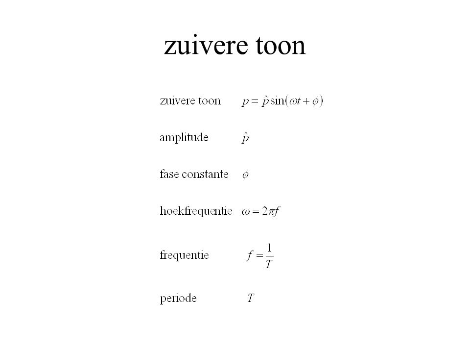 zuivere toon