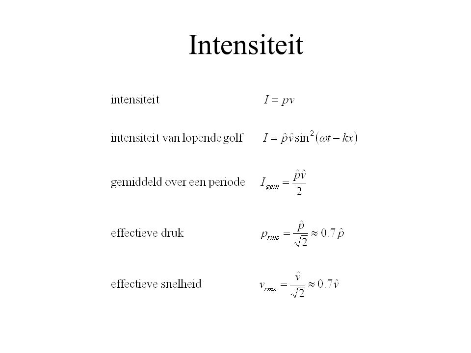Intensiteit