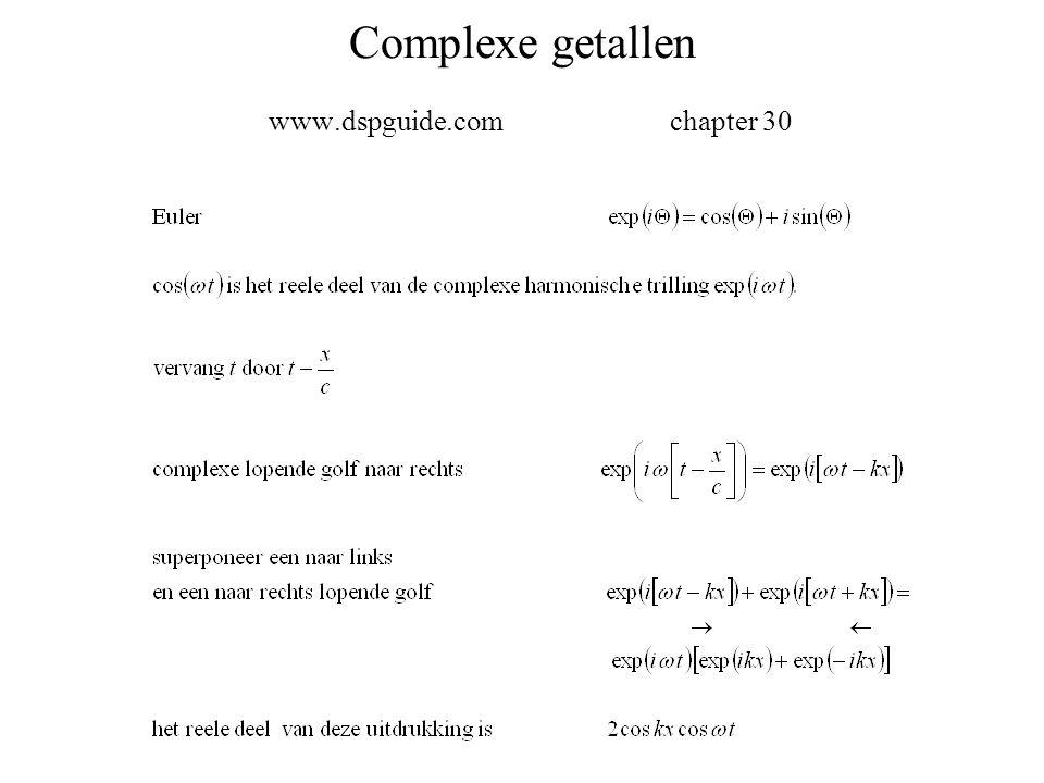 Complexe getallen www.dspguide.comchapter 30