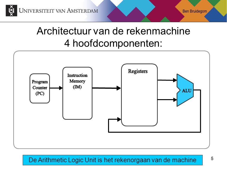5 De Arithmetic Logic Unit is het rekenorgaan van de machine