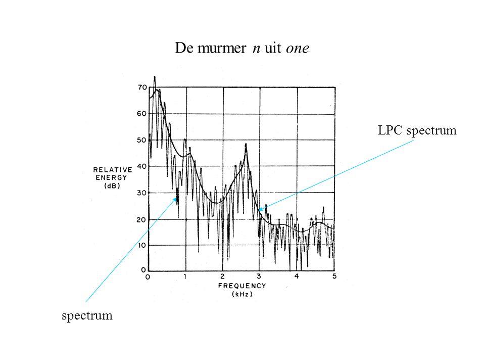 De murmer n uit one spectrum LPC spectrum