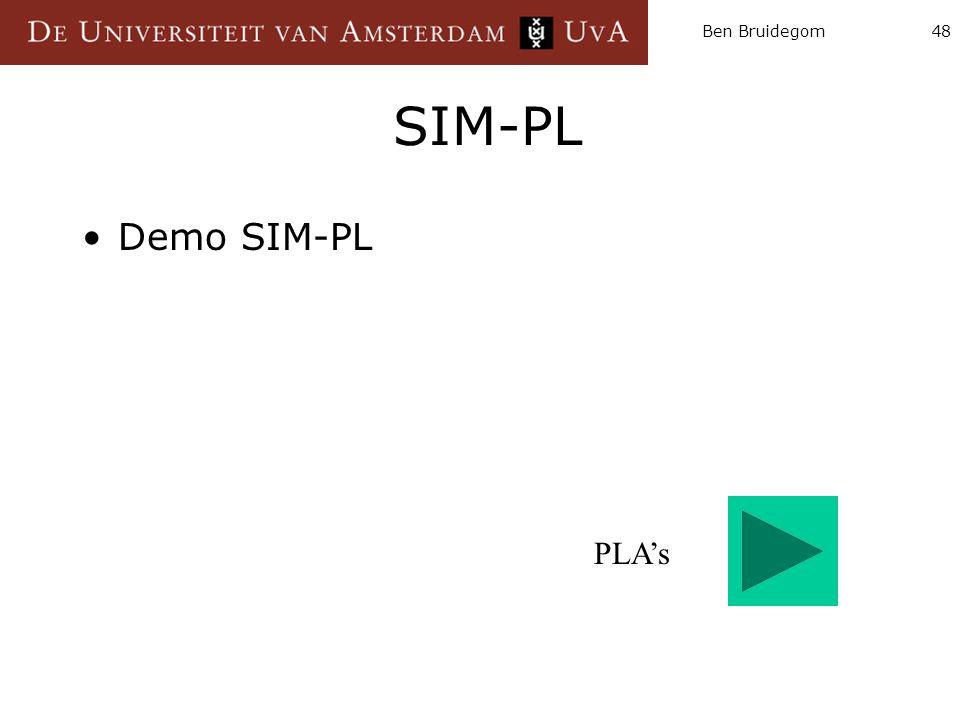 Ben Bruidegom48 SIM-PL Demo SIM-PL PLA's