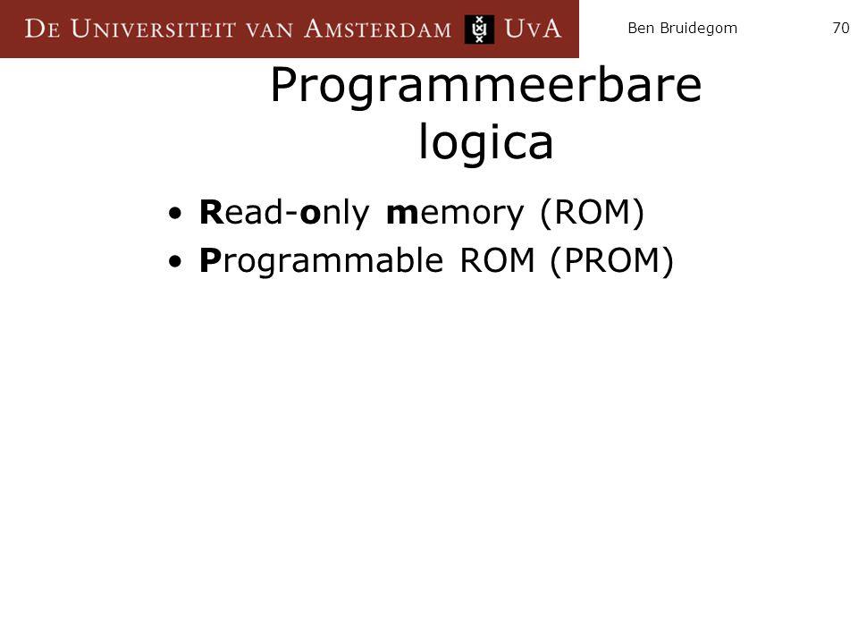 Ben Bruidegom70 Programmeerbare logica Read-only memory (ROM) Programmable ROM (PROM)
