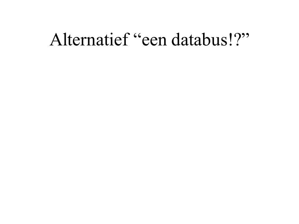 Alternatief een databus!?