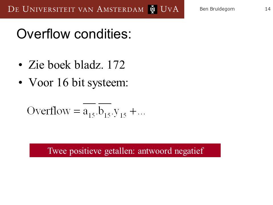 14Ben Bruidegom Overflow condities: Zie boek bladz.