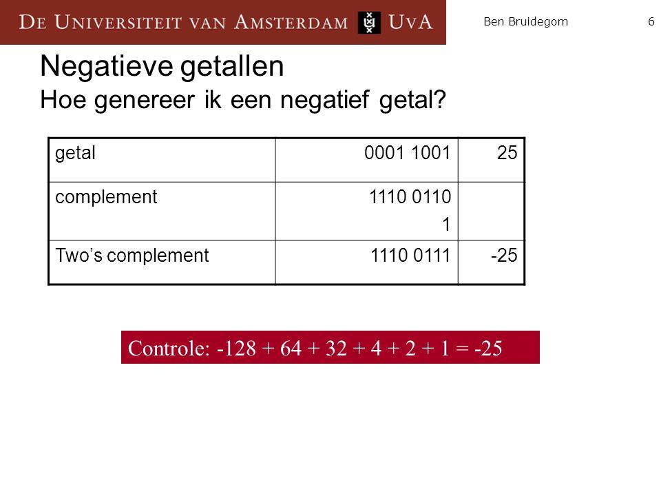 6Ben Bruidegom Negatieve getallen Hoe genereer ik een negatief getal.