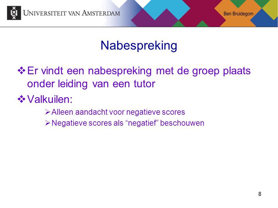 9 Test rol(len) die je speelt in een groep: http://www.thesis.nl/belbin/
