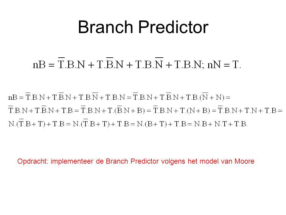 Branch Predictor Opdracht: implementeer de Branch Predictor volgens het model van Moore
