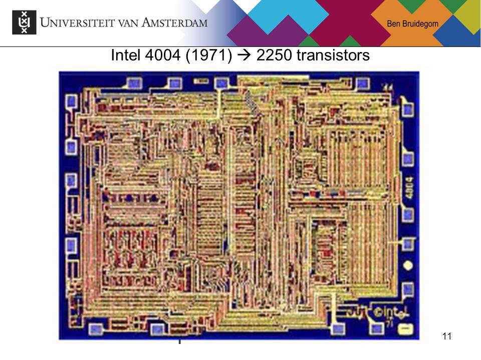 11 Intel 4004 (1971)  2250 transistors
