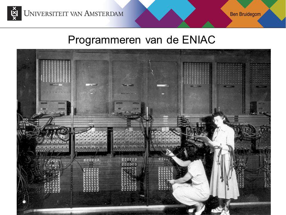 36 Programmeren van de ENIAC