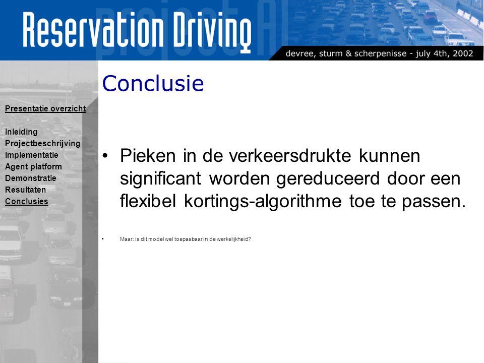 Conclusie Pieken in de verkeersdrukte kunnen significant worden gereduceerd door een flexibel kortings-algorithme toe te passen.