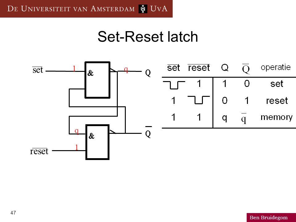 Ben Bruidegom 47 set Set-Reset latch reset 1 1 q q