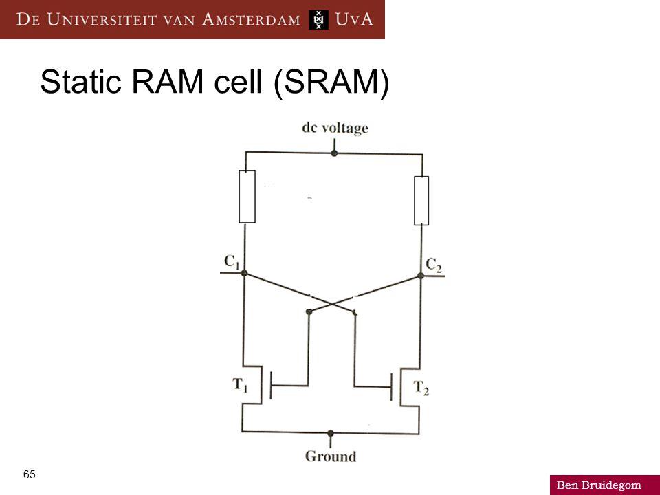 Ben Bruidegom 65 Static RAM cell (SRAM)