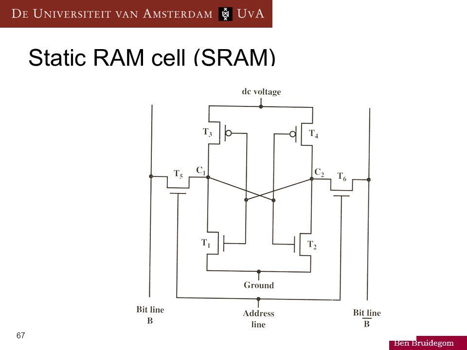 Ben Bruidegom 67 Static RAM cell (SRAM)