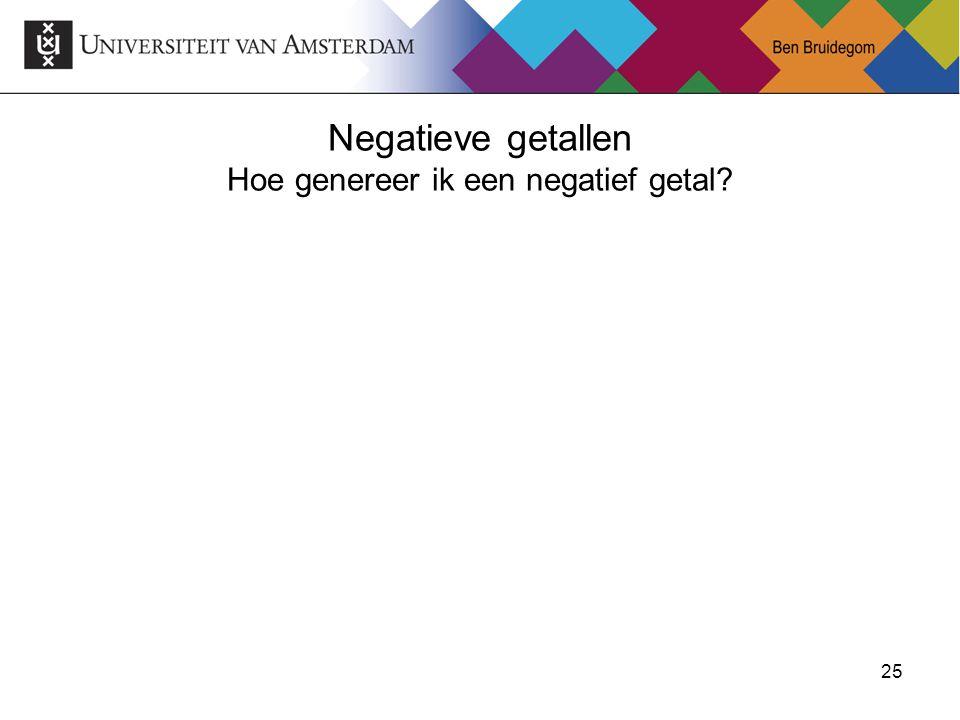 25 Negatieve getallen Hoe genereer ik een negatief getal?