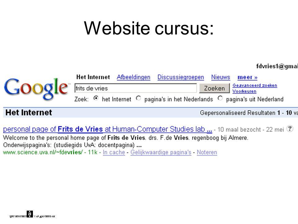 Website cursus:
