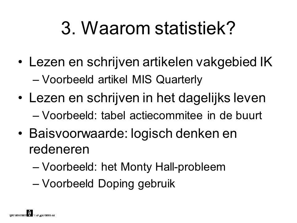 3. Waarom statistiek.