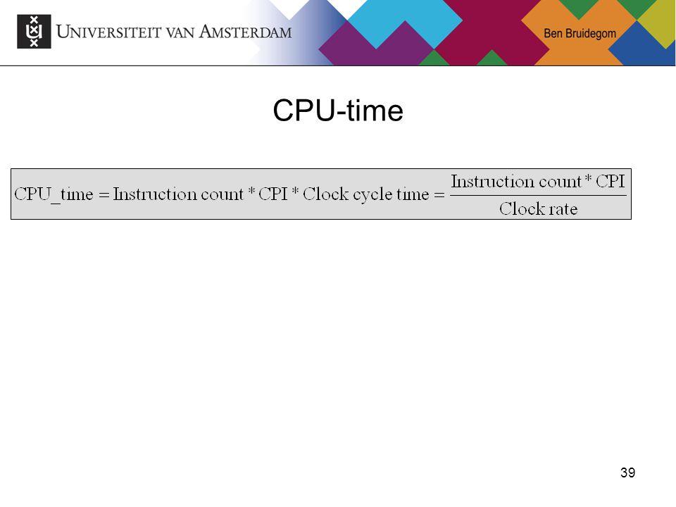 39 CPU-time