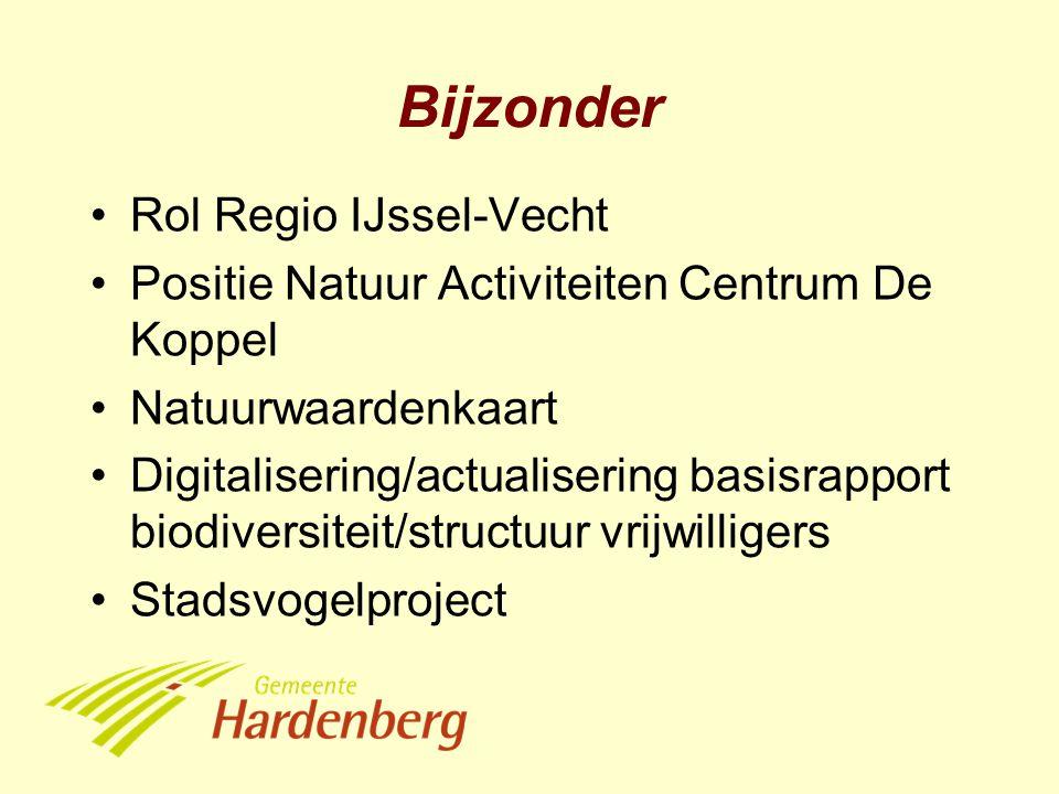 Bijzonder Rol Regio IJssel-Vecht Positie Natuur Activiteiten Centrum De Koppel Natuurwaardenkaart Digitalisering/actualisering basisrapport biodiversiteit/structuur vrijwilligers Stadsvogelproject