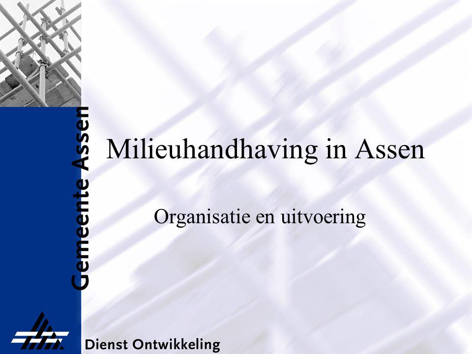 Milieuhandhaving in Assen Organisatie en uitvoering