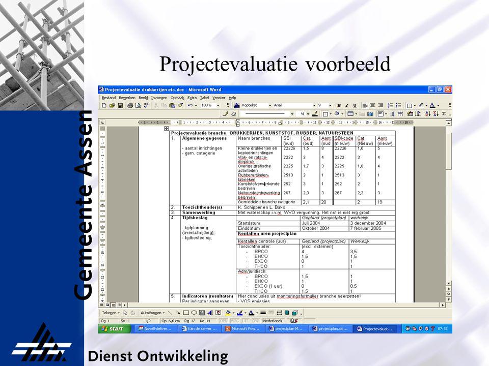 Projectevaluatie voorbeeld