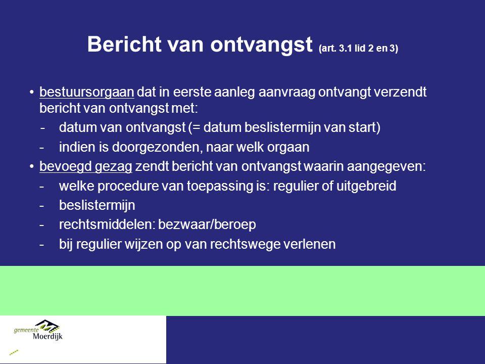 Bericht van ontvangst (art.