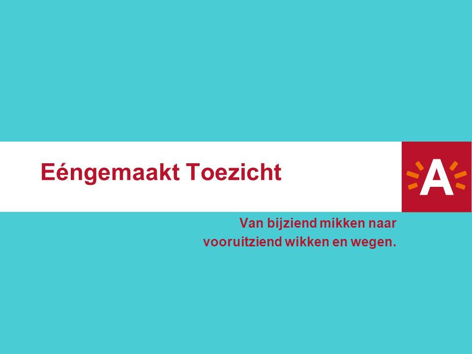 Eéngemaakt Toezicht Van bijziend mikken naar vooruitziend wikken en wegen.