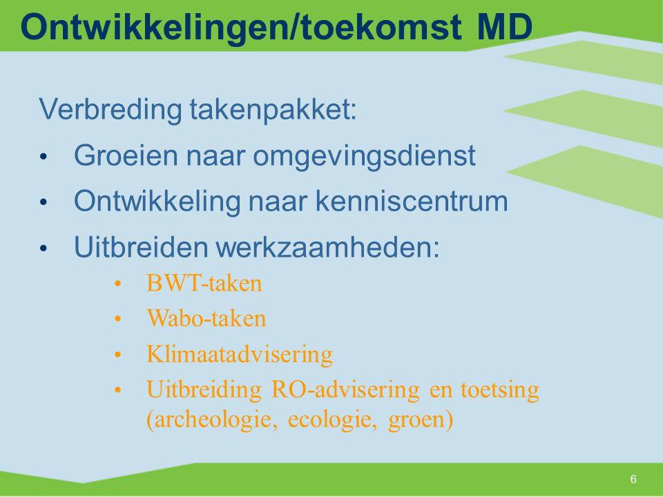 Programma 1.De Milieudienst Midden-Holland 2. ROM- en MILO-advisering 3.