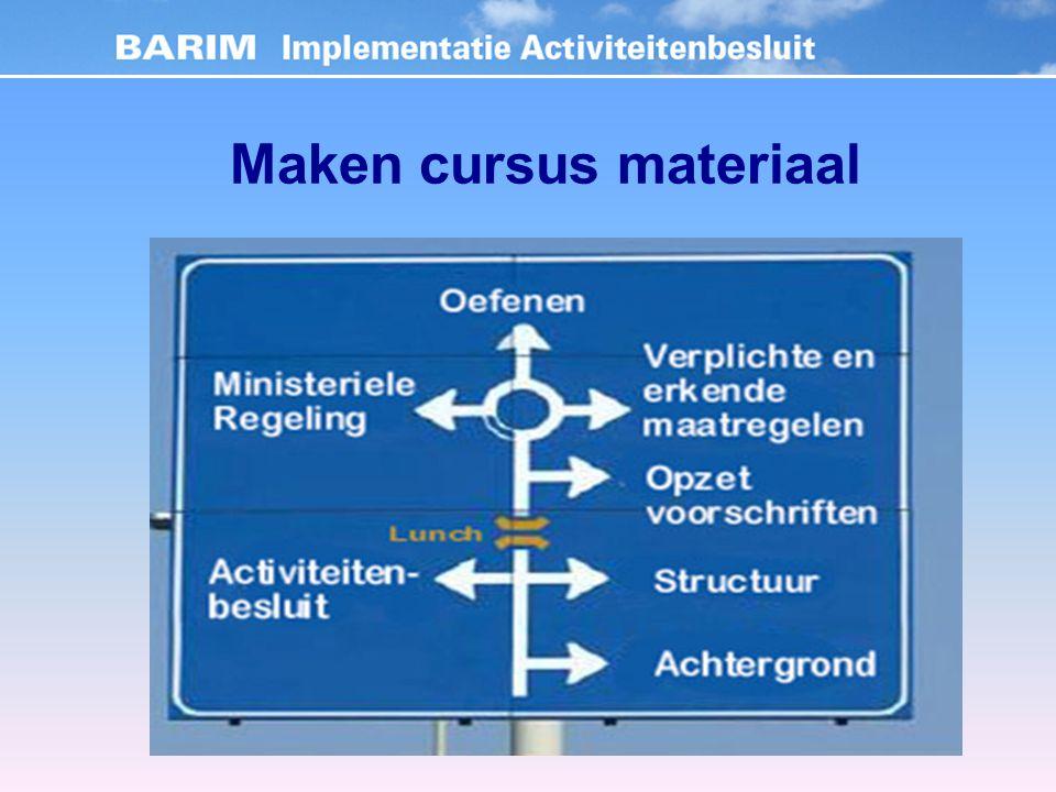 Maken cursus materiaal