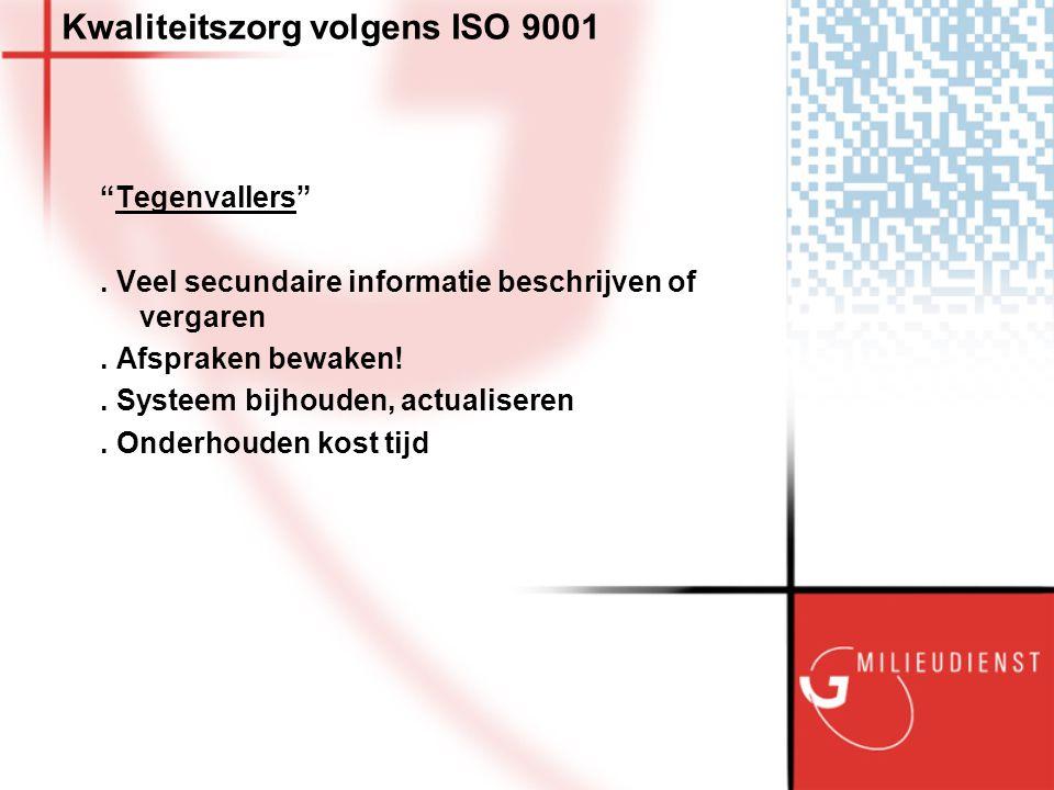 Kwaliteitszorg volgens ISO 9001 Tegenvallers . Veel secundaire informatie beschrijven of vergaren.