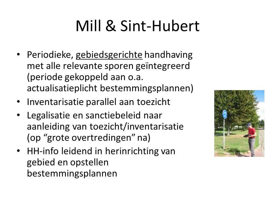 Mill & Sint-Hubert Periodieke, gebiedsgerichte handhaving met alle relevante sporen geïntegreerd (periode gekoppeld aan o.a. actualisatieplicht bestem