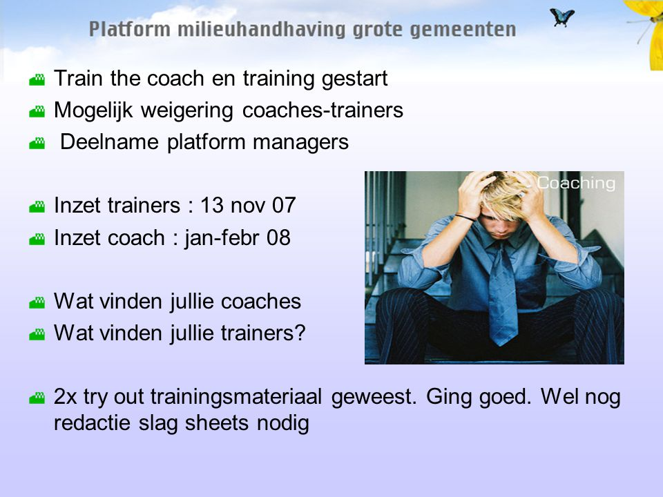 Train the coach TMOP helpt opleiden in 3 dagen