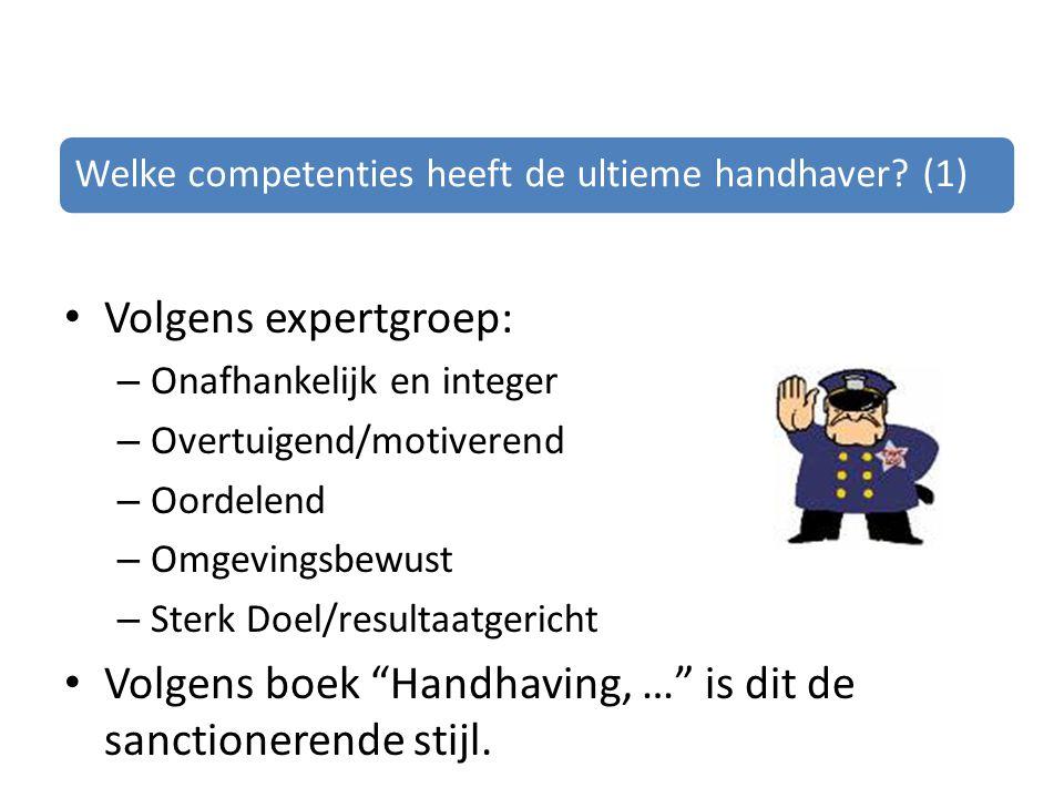 Welke competenties heeft de ultieme handhaver.