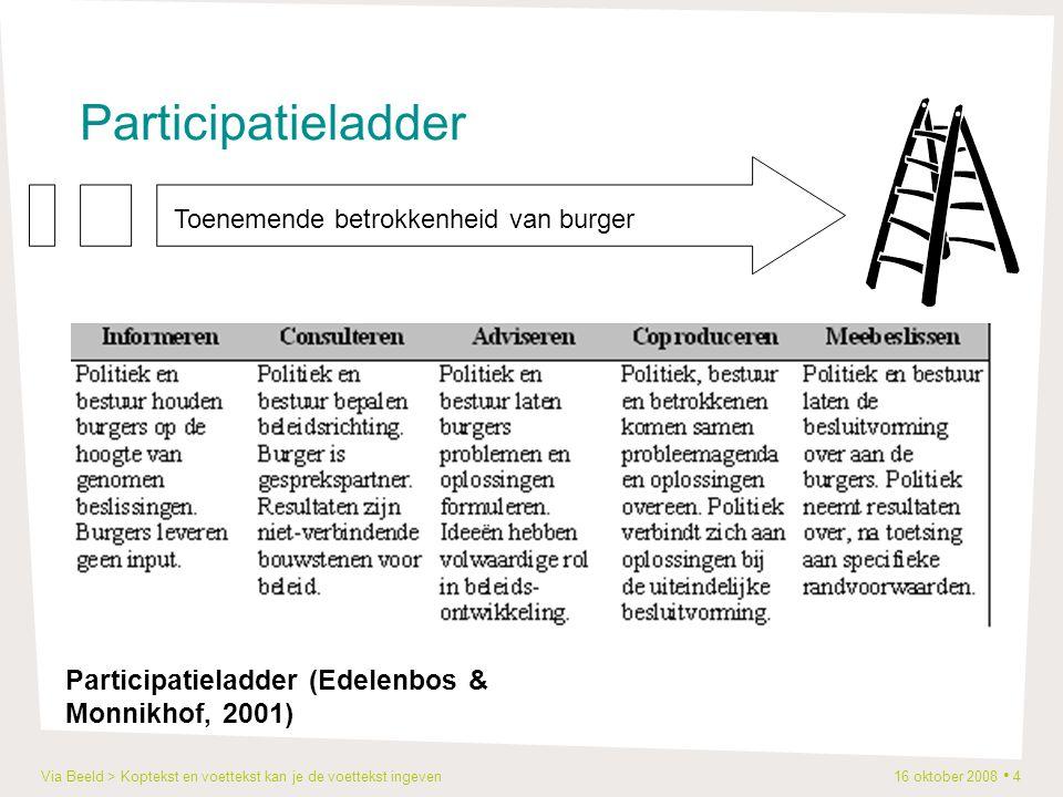 Via Beeld > Koptekst en voettekst kan je de voettekst ingeven 16 oktober 2008 5 2.