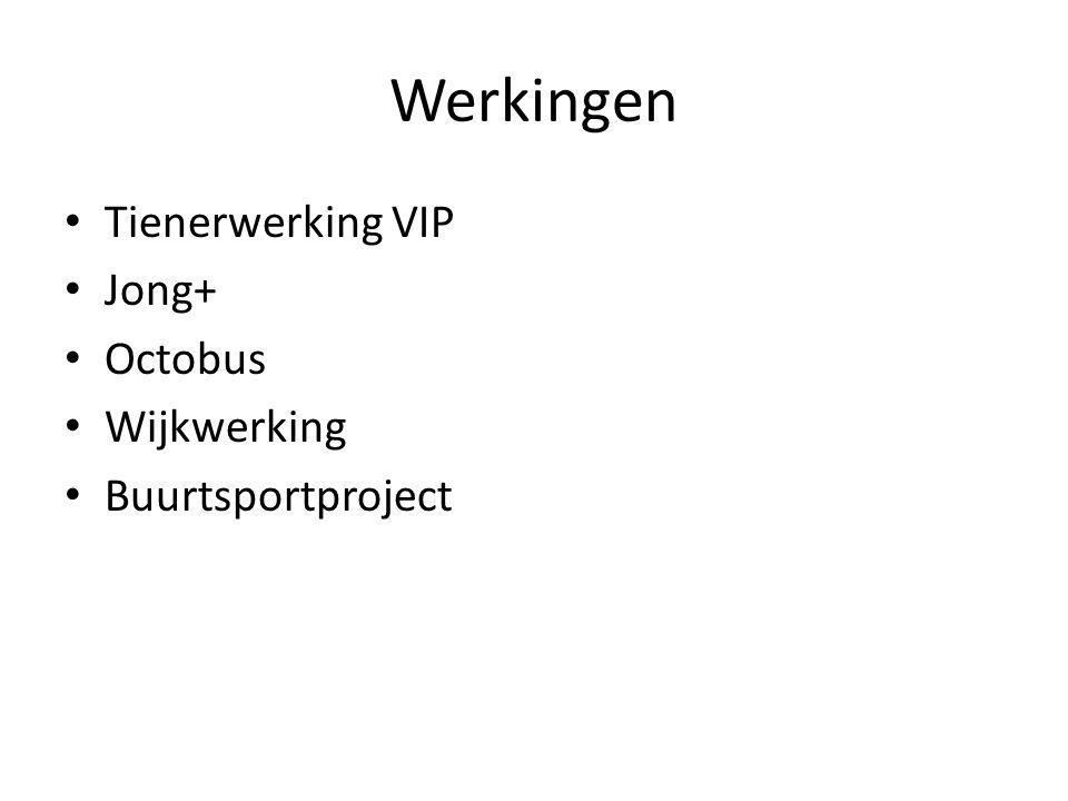 Werkingen Tienerwerking VIP Jong+ Octobus Wijkwerking Buurtsportproject