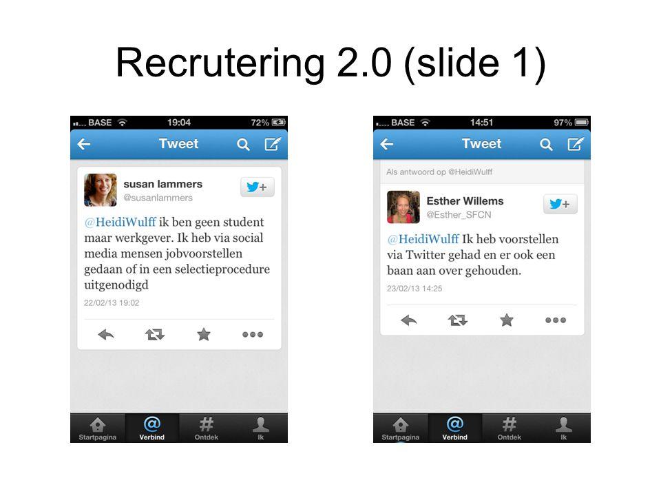 Recrutering 2.0 (slide 1)