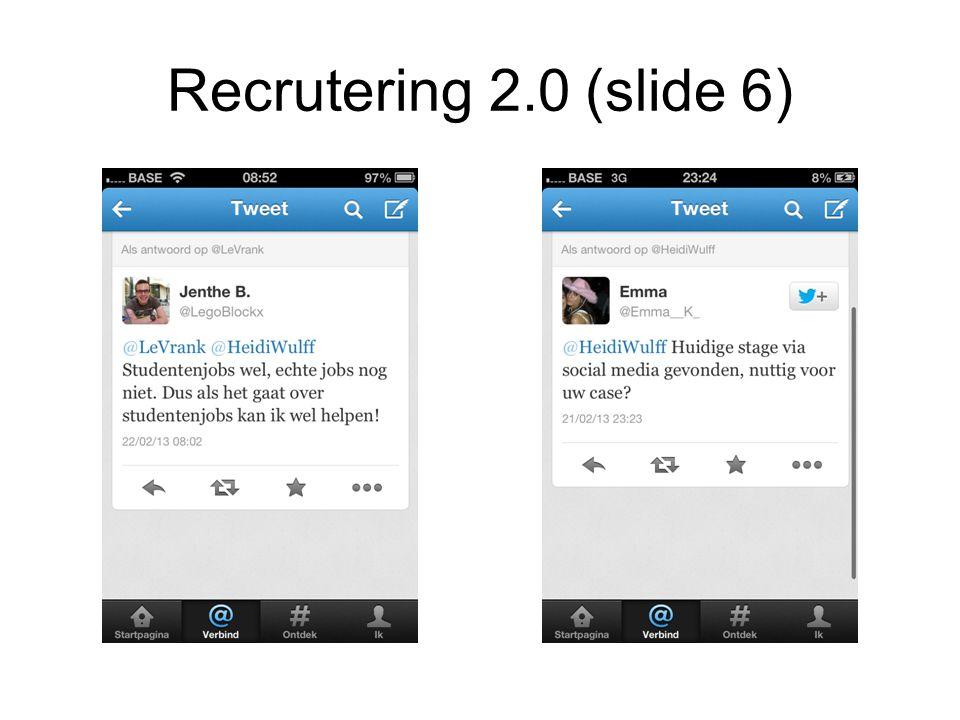 Recrutering 2.0 (slide 6)